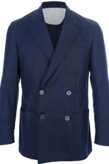 Corneliani Double Breasted Blazer - Lyst