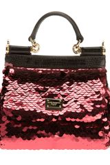 Dolce & Gabbana Sequined Miss Sicily Shoulder Bag - Lyst