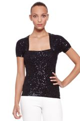 Donna Karan New York Sequined Shrug Top - Lyst