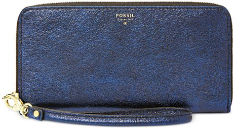 Fossil Wallet in Blue (NAVY GLITTER) - Lyst