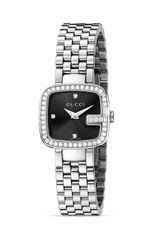 Gucci G Stainless Steel Diamond Watch 24mm - Lyst
