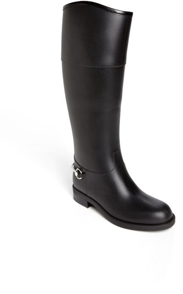 Beautiful Gucci Gg Bicolor Rain Boots In Pink Black Pink  Lyst