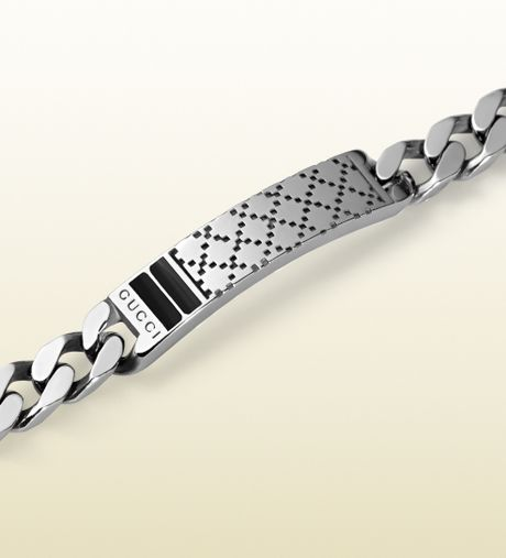 Gucci Mens Bracelet With Diamantissima Motif Men Gucci Diamantissima