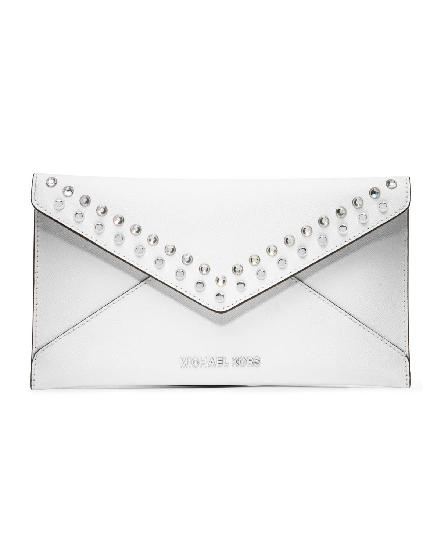 de762f45f5c5 ... promo code for lyst michael kors michael large jeweled jet set travel  envelope f69b9 e8744