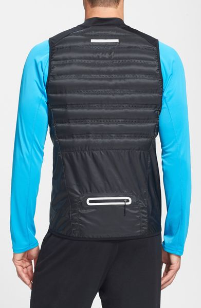 Nike Aeroloft Insulated Running Vest In Black For Men