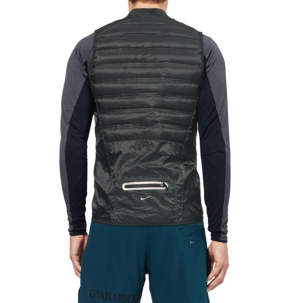 6dcd3ea0f0eb Nike Gyakusou Aeroloft 800 Downfilled Running Gilet in Green for Men ...
