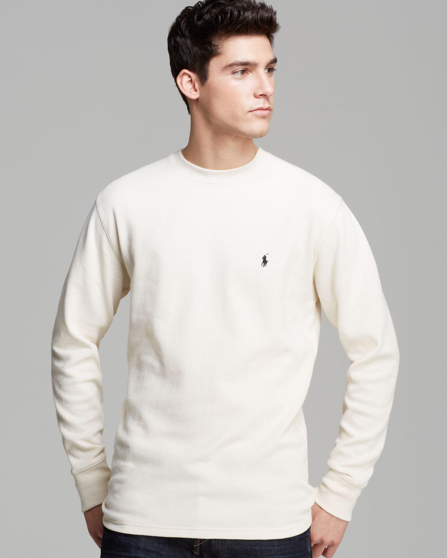 32f293ed8 ... greece lyst polo ralph lauren long sleeve crewneck waffle shirt in  6753e f4737