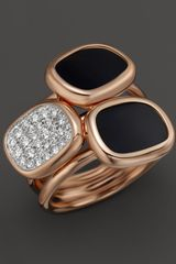 Roberto Coin Diamond Black Jade Double Ring  - Lyst