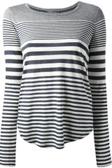 Vince Variagated Striped T-Shirt - Lyst