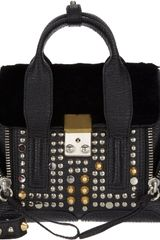 3.1 Phillip Lim Furtrimmed Mini Pashli Satchel - Lyst