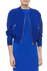 Acne Baseball Zipup Jacket Klein Blue - Lyst
