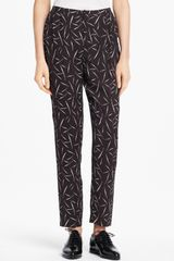 Band Of Outsiders Grass Print Silk Pants - Lyst