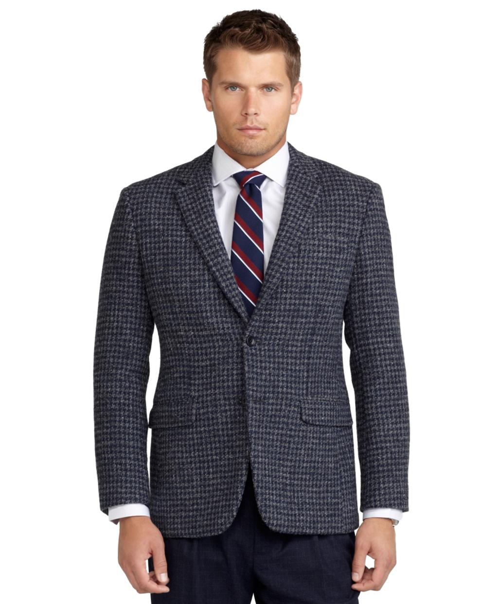 Brooks brothers Milano Fit Harris Tweed Houndstooth Sport Coat in ...