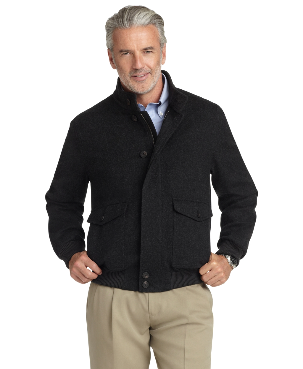 Brooks brothers Brooksstorm® Bomber Jacket in Gray for Men ...