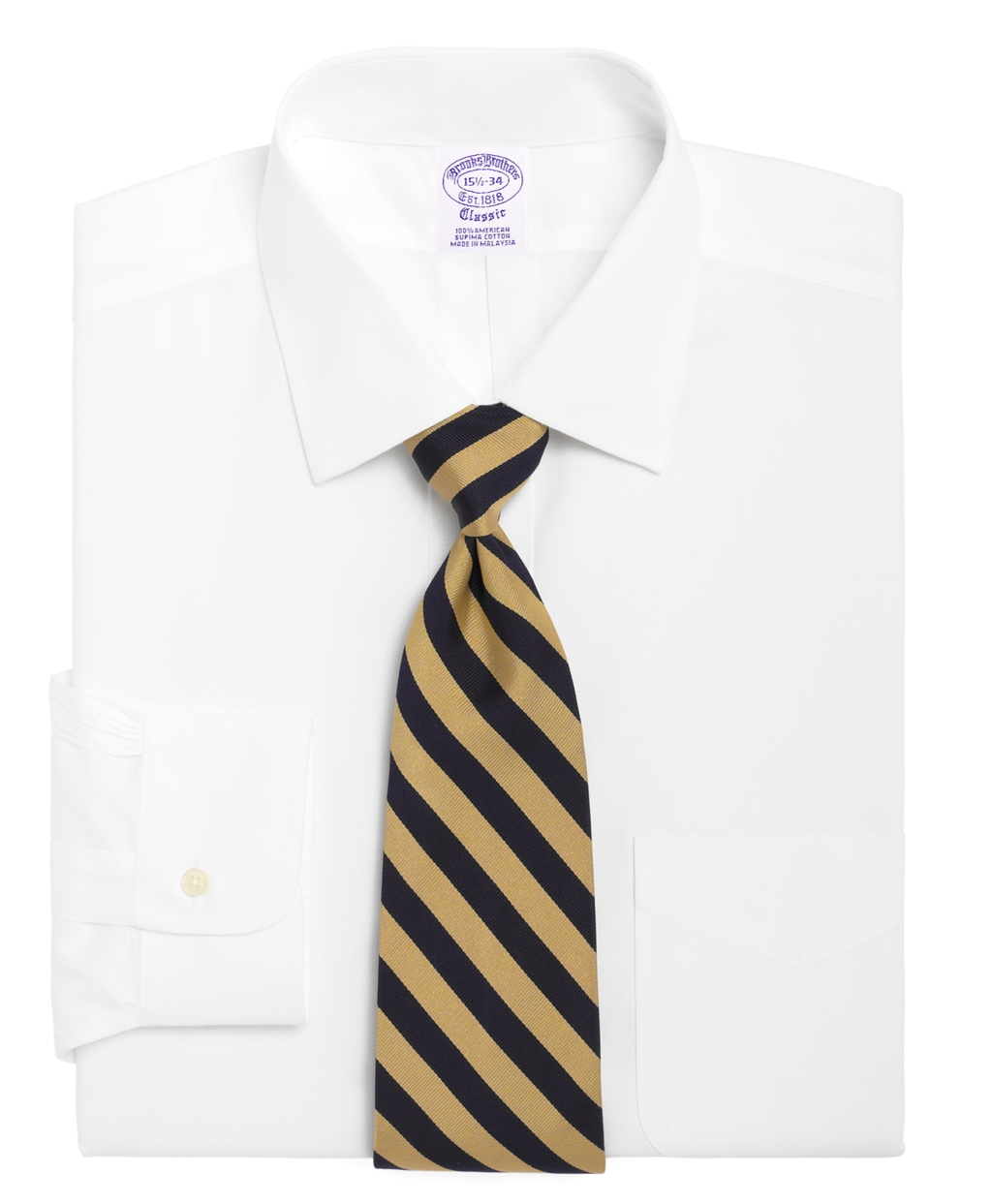 Brooks brothers madison fit spread collar dress shirt in for Men s spread collar shirts
