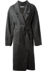 Christophe Lemaire Tweed Wrap Coat - Lyst