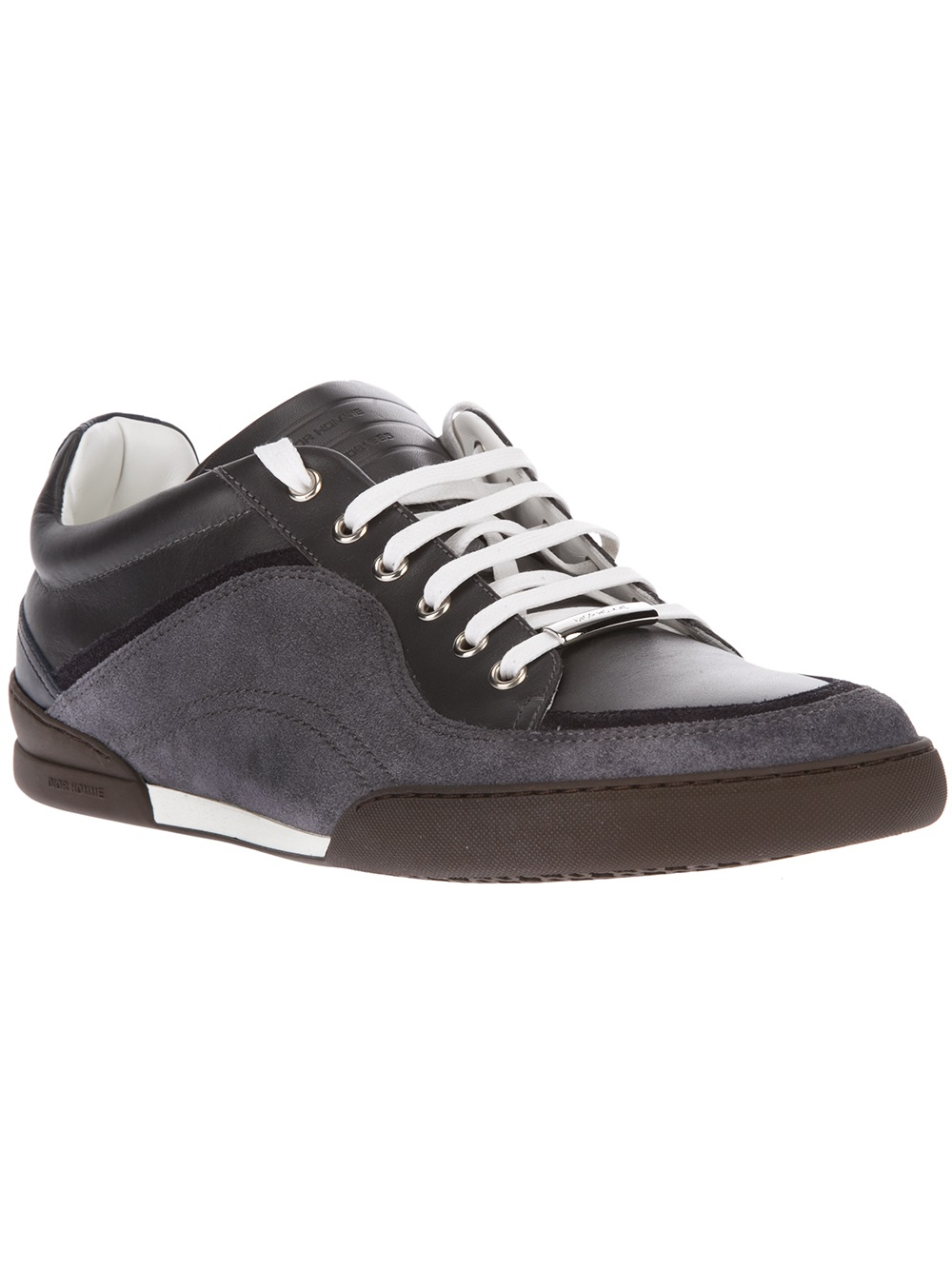 Lyst Dior Homme Twotone Sneaker In Gray For Men