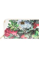 Dolce & Gabbana Floral Zip Around Purse - Lyst