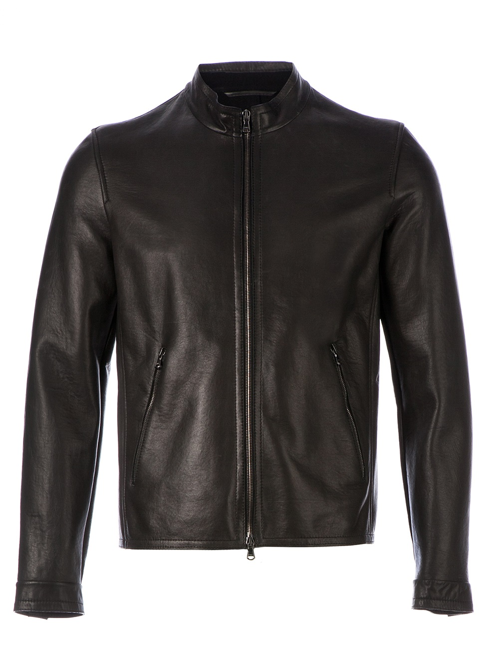 lyst drome classic leather jacket in black for men