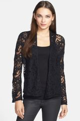 Eileen Fisher Lace Crochet Cardigan - Lyst