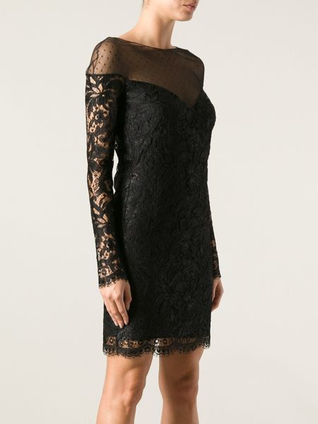 Emilio Pucci Black Dress With Lace Lace Dress in Black Emilio