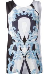 Emilio Pucci Baroque Print Sleeveless Top - Lyst