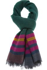 Etro Striped Scarf - Lyst