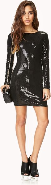 Black Sequin Top Forever 21 Forever 21 Glam Sequined