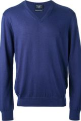 Hackett Vneck Sweater - Lyst