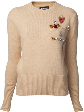 House Of Holland Embellished Jumper Sweater - Lyst