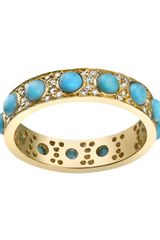 Irene Neuwirth Turquoise and Diamond Ring - Lyst