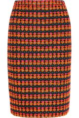 J.Crew Collection Neon Tweed Pencil Skirt - Lyst