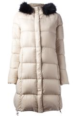 Joseph Fur Trim Padded Coat - Lyst