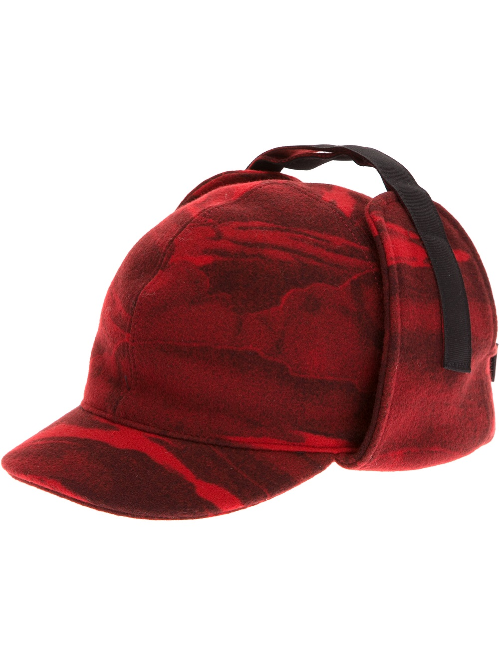 e7f6f9cae698d KENZO Ear Flap Cap in Red for Men - Lyst