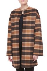 Michael Kors Openfront Plaid Coat - Lyst