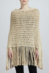 Michael Kors Looseknit Crocheted Poncho - Lyst