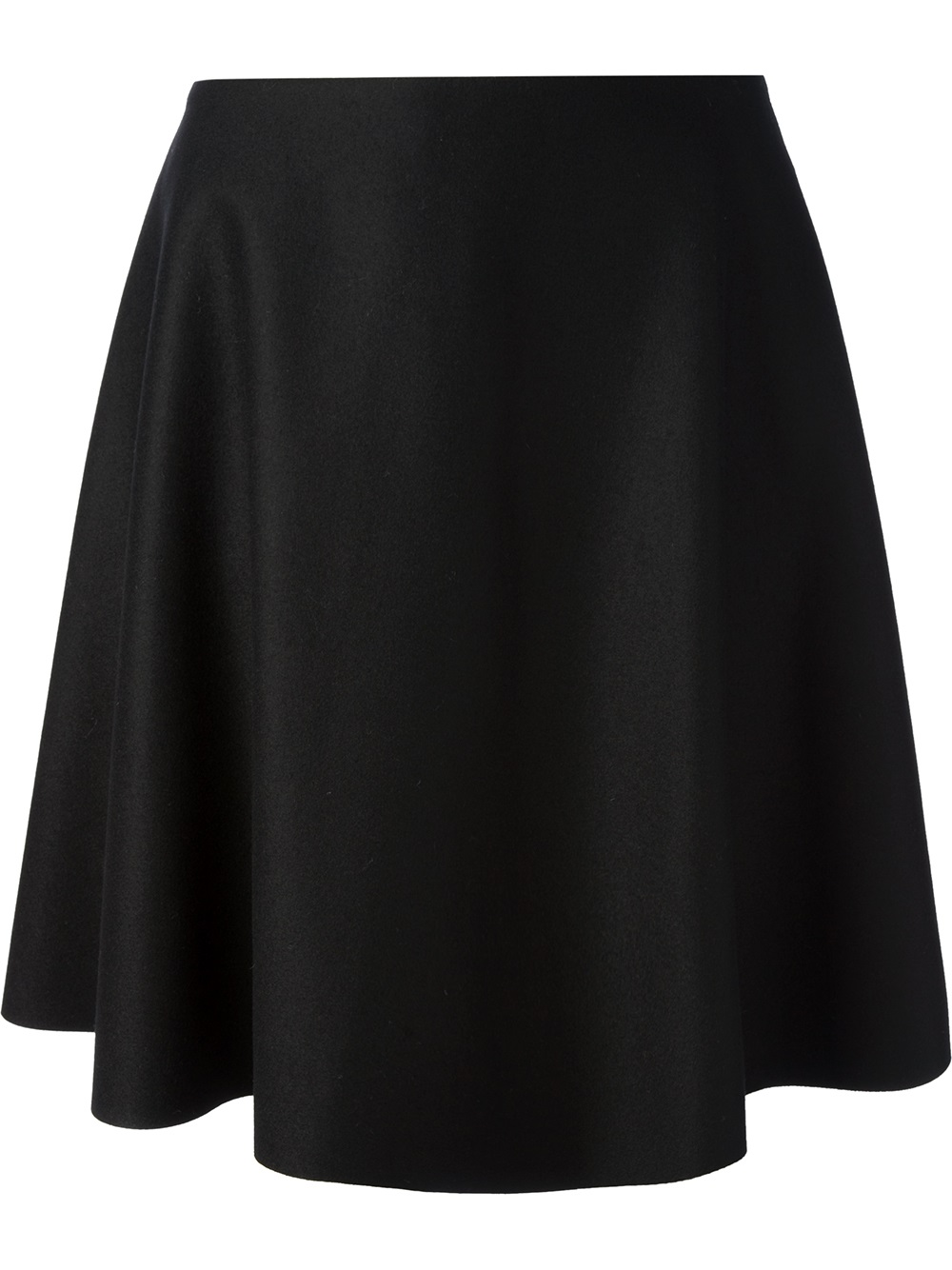 msgm skater skirt in black lyst