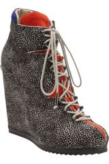 Pierre Hardy Lace Up Wedge - Lyst