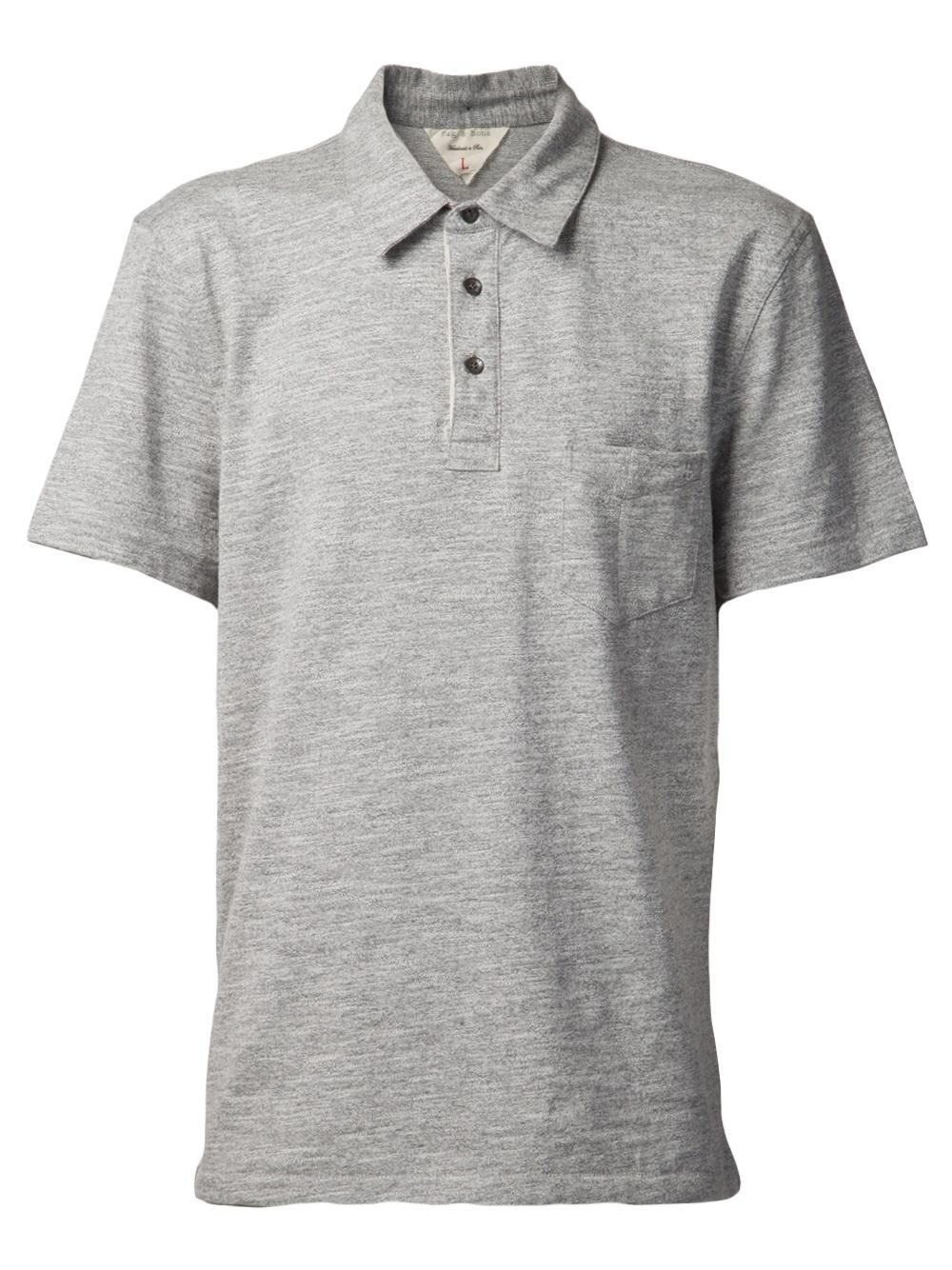 Rag Amp Bone Patch Pocket Polo Shirt In Gray For Men Grey