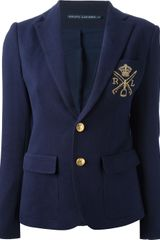 Ralph Lauren Blue Label Embroidered Blazer - Lyst
