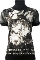 Roberto Cavalli Printed Knitted Top - Lyst