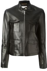 Saint Laurent Lambskin Jacket - Lyst