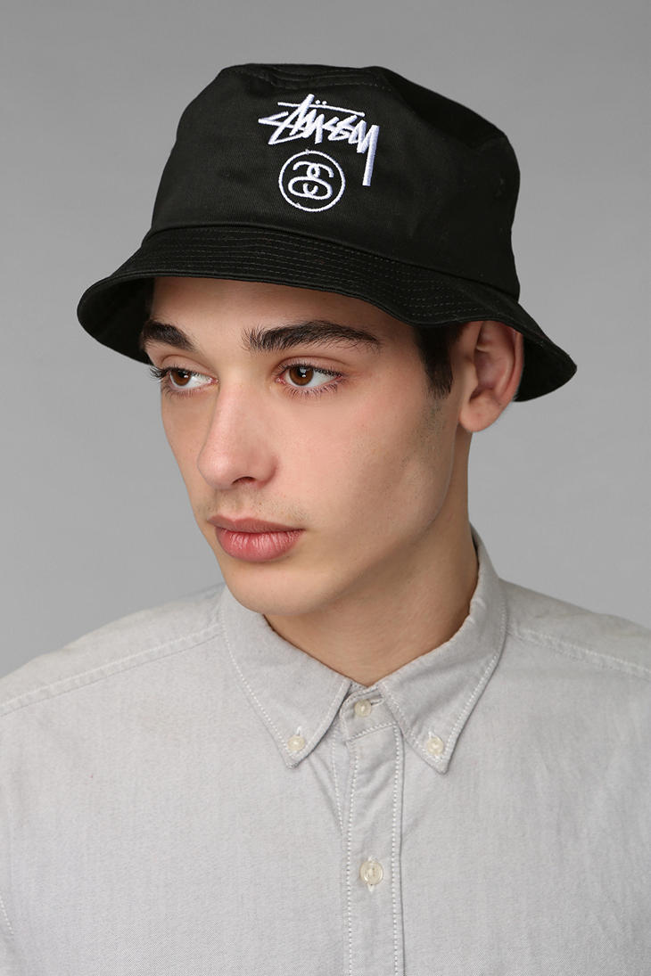 Lyst - Urban Outfitters Stussy Classic Bucket Hat in Black for Men 0db7906eeb4