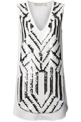 Vanessa Bruno Chevron Dress - Lyst