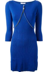 Versace Zip Detail Dress - Lyst