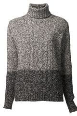 Vince Cable Knit Sweater - Lyst