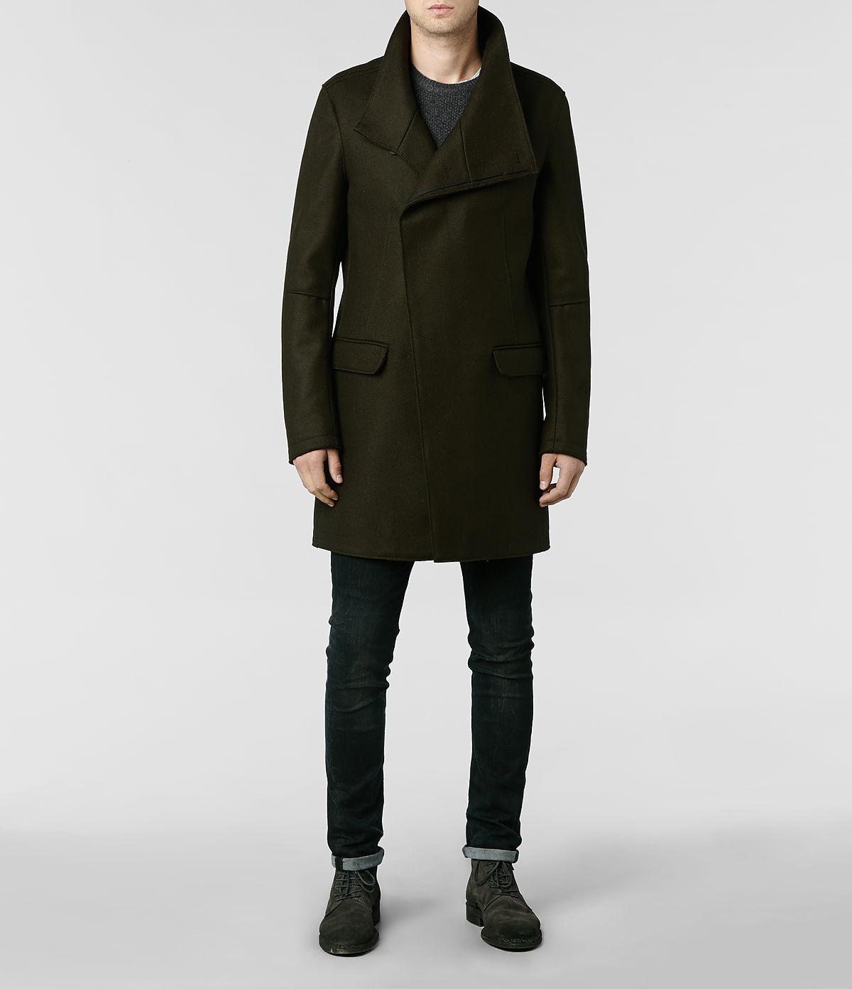 Allsaints Sylvan Coat In Brown For Men Lyst