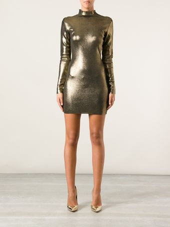 Balmain Fitted Mini Dress - Lyst