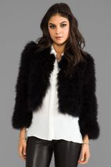 BCBGMAXAZRIA Maragaret Faux Fur Jacket in Black - Lyst