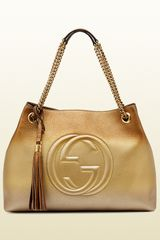 Gucci Soho Shaded Leather Shoulder Bag - Lyst